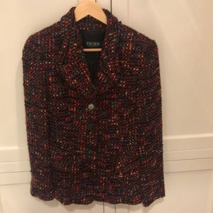 Multicolored tweed 3 buttoned jacket